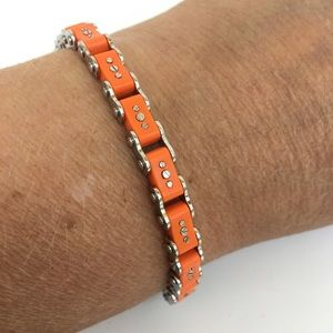 Ice Link Bracelet Orange Bike Chain Small Style
